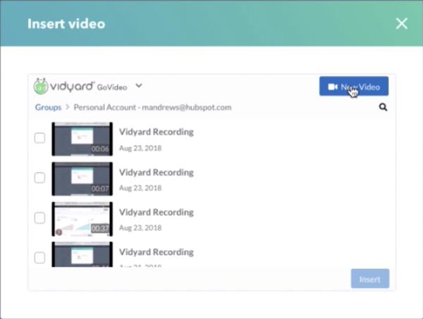 video recording Hubspot
