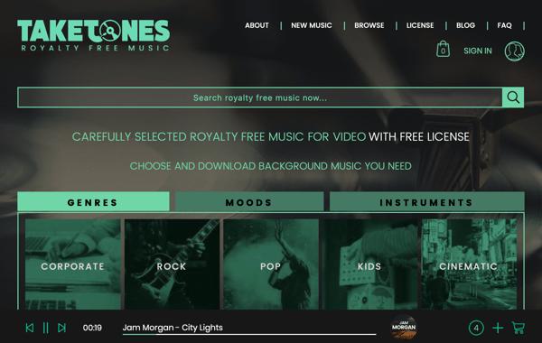 taketones royalty free music