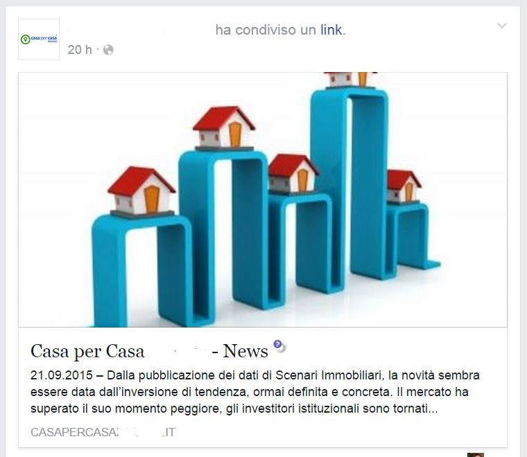 post su facebook per agenzie immobiliari