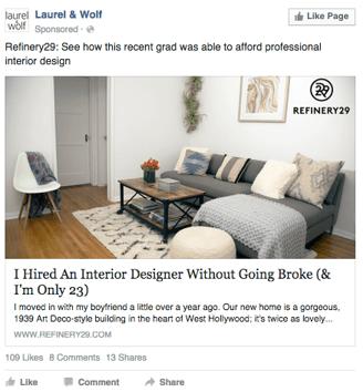 esempio Fare Pubblicità su Facebook: 5 Regole da Seguire per le inserzioni facebook
