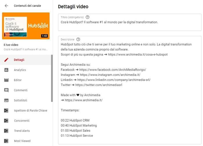 come aumentare visualizzazioni youtube - miniatura e descrizione