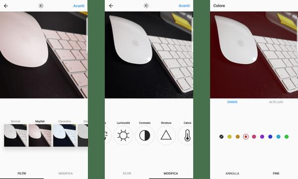 filtri valori Instagram