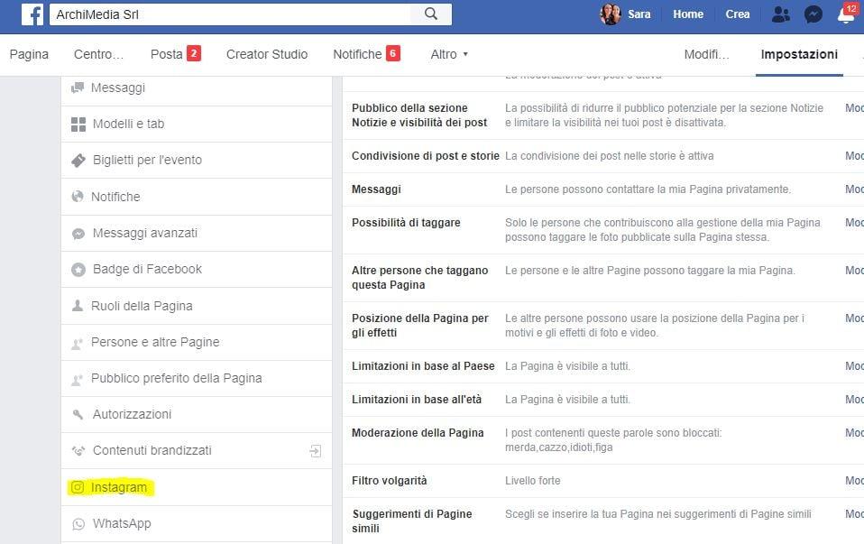 whatsapp_facebook_configurazione