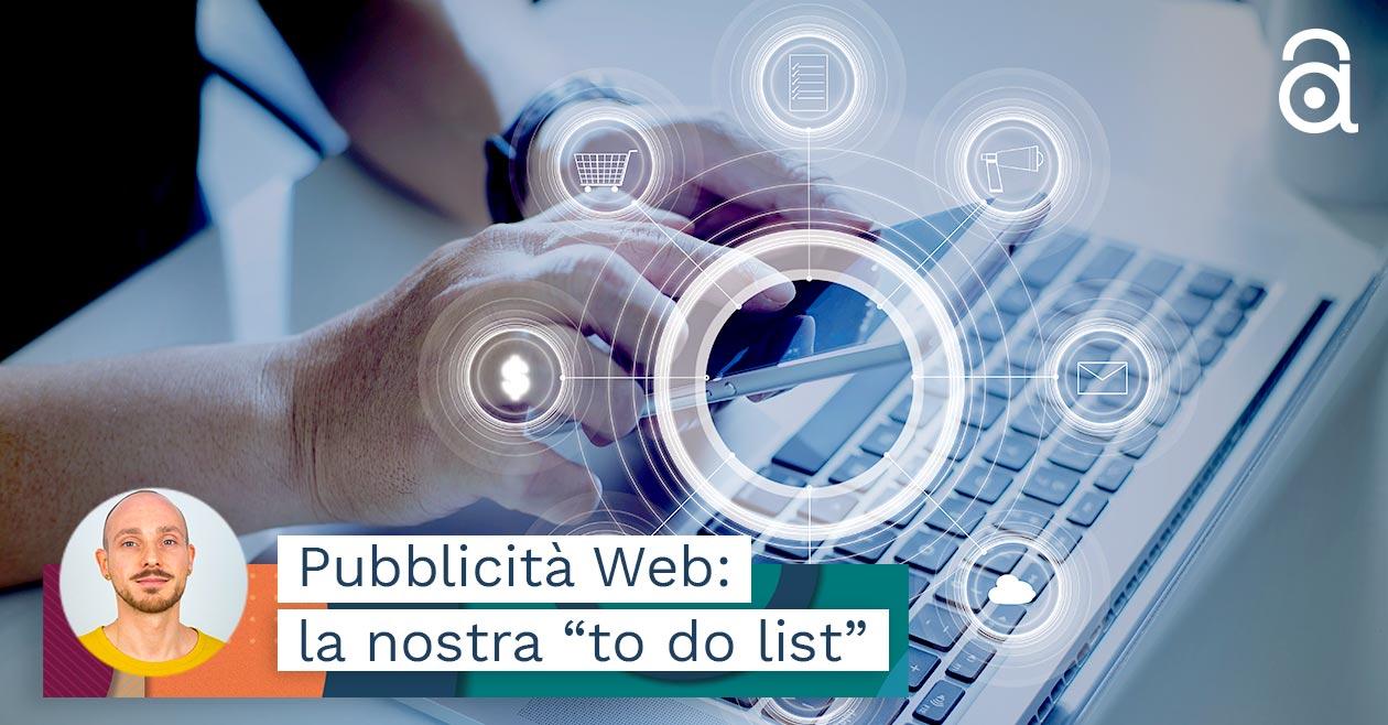 Pubblicità Web-la nostra to do list