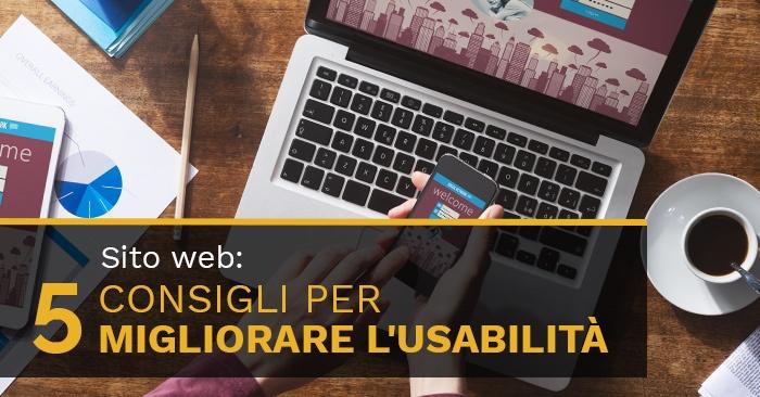 Sito web: 5 consigli per Migliorare l'Usabilità