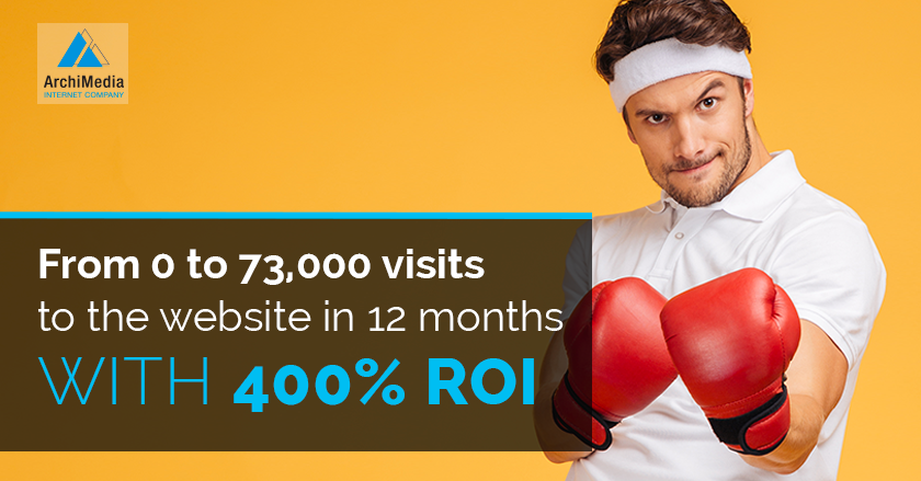 From 0 to 73,000 visits to the website in 12 months with 400% ROI